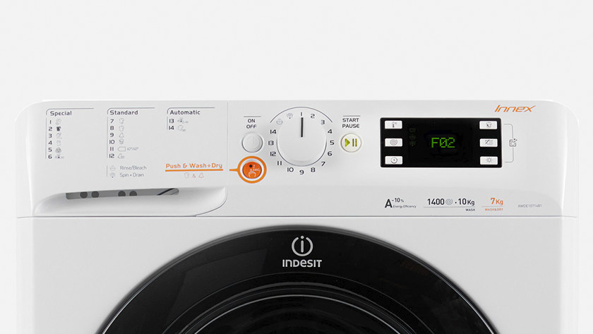 Indesit washing machine error F02