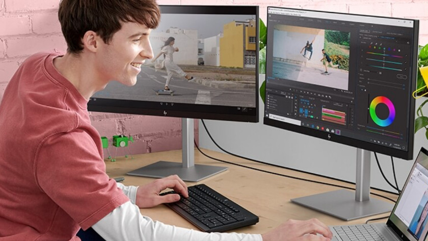 Video bewerken met 2 externe monitoren