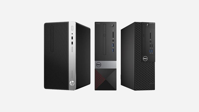 Three desktops side by side.