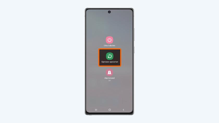 Samsung smartphone opnieuw opstarten