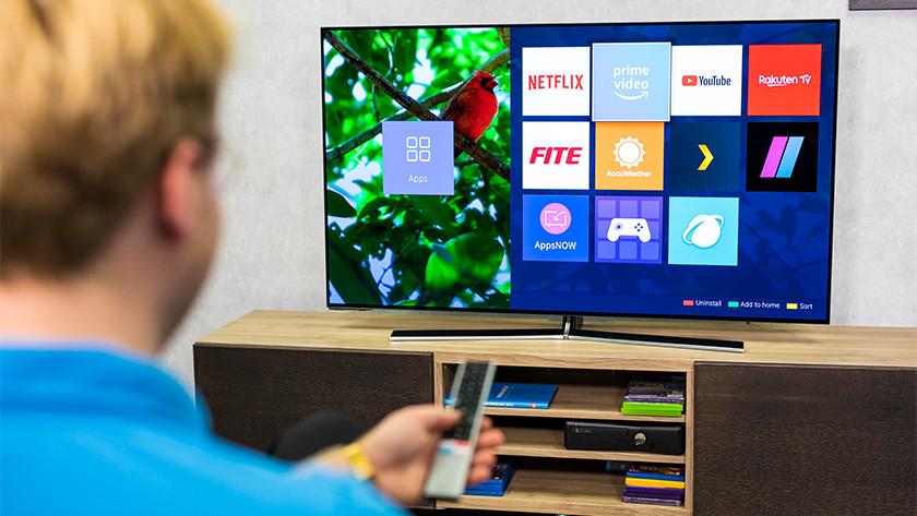 Smart menu van de Hisense H55O8B OLED tv