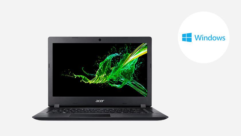 A laptop with Windows logo.