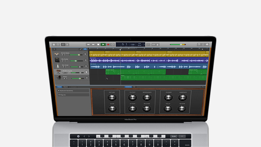 Garageband op Apple MacBook