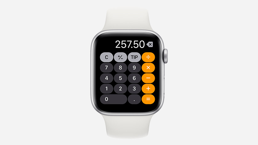 Apple Watch calculator