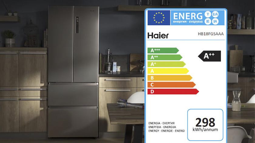 Haier vrieslades energiezuinigheid