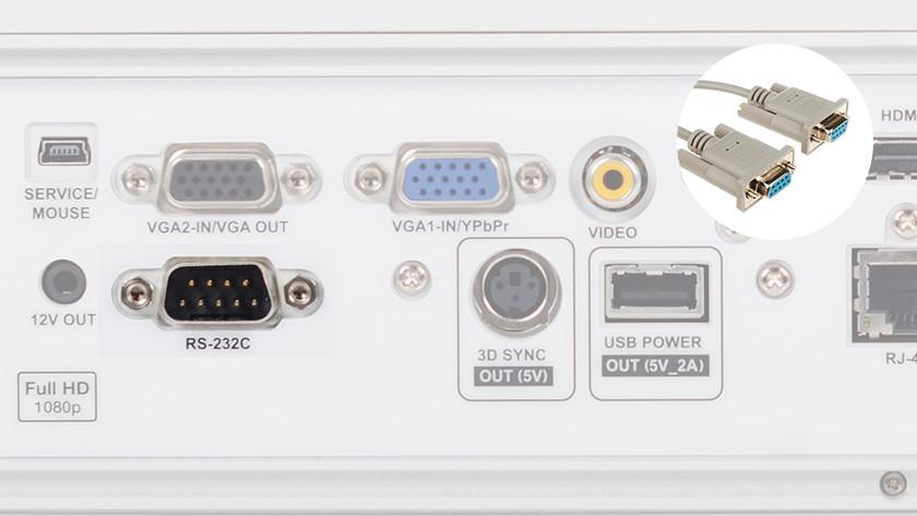 Beamer RS-232 input