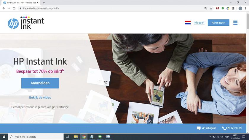 HP Instant Ink website