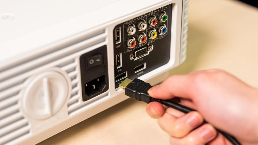 Gebruik een HDMI kabel