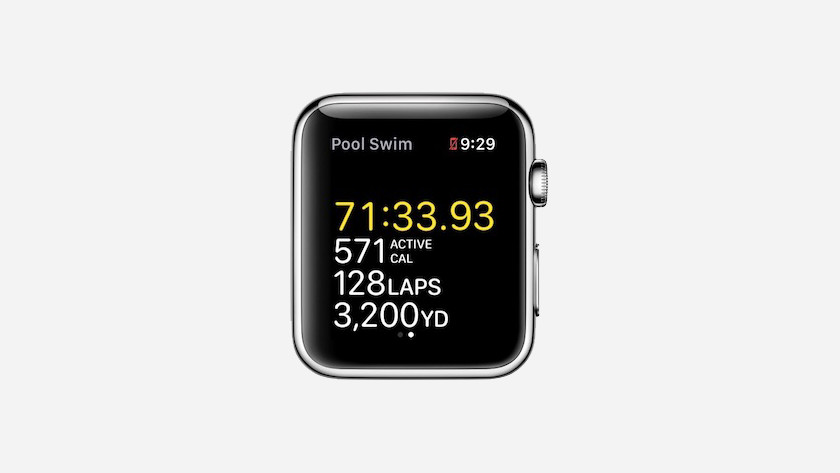 Measurement during swimming workout