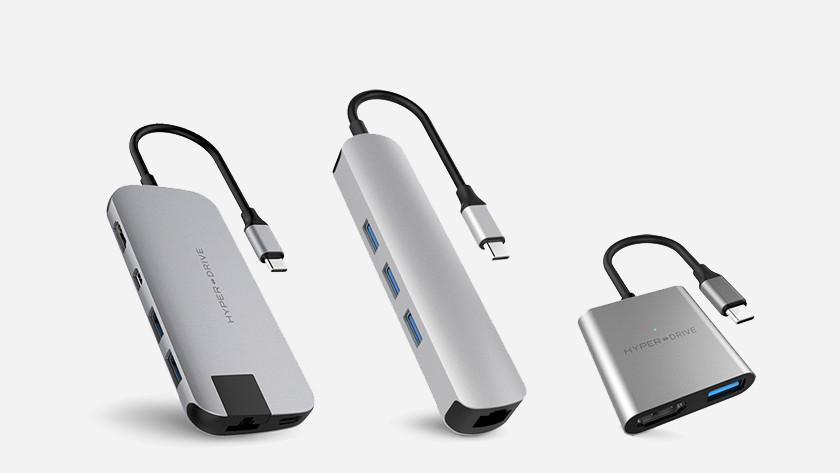 Hubs voor laptops met usb c