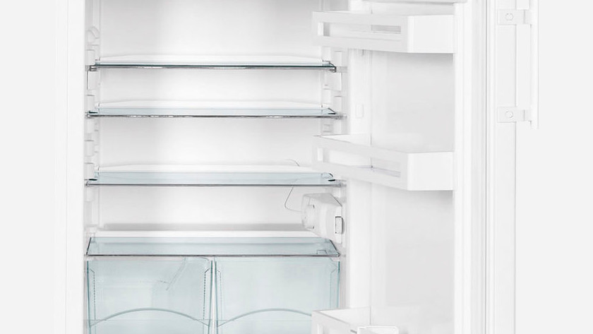 Inside empty fridge