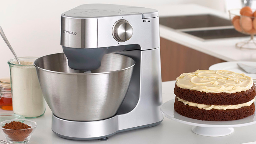 Kenwood stand mixer with cake