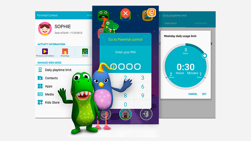 Samsung Kids Mode parental control