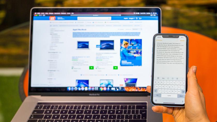 Apple MacBook kopieren plakken