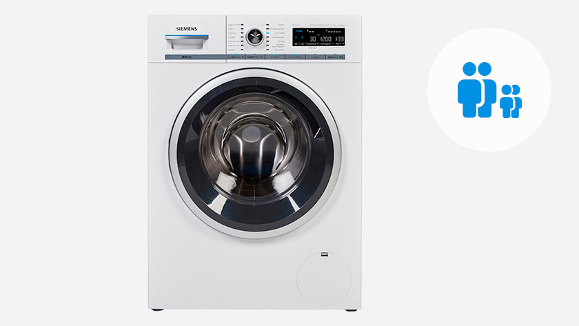 Washing machine for 2 people with 1 or 2 children