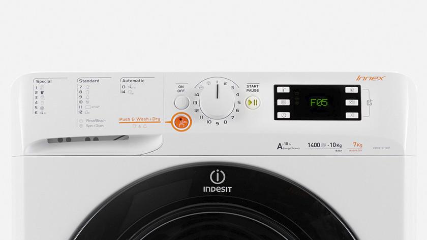 Indesit washing machine error F05