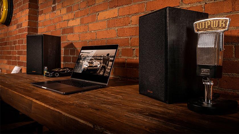HiFi speakers in use