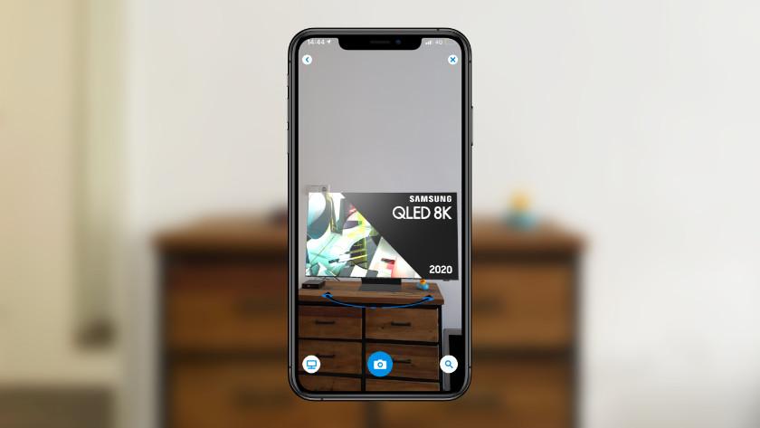 Tv plaatsen in de app