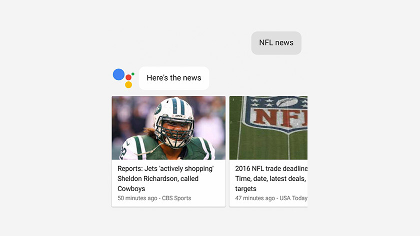 Google Assistant and news