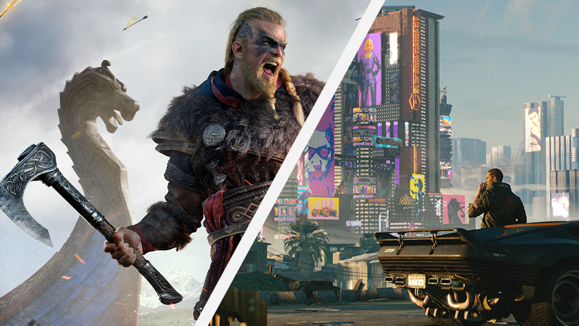 Assassin's Creed Valhalla en Cyberpunk 2077.