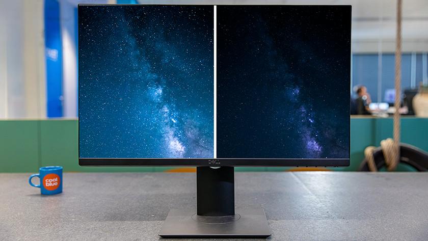 Contrast en local dimming op scherm.