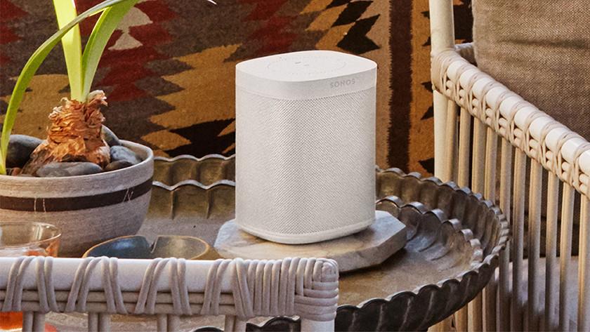 Wifi speaker in gebruik
