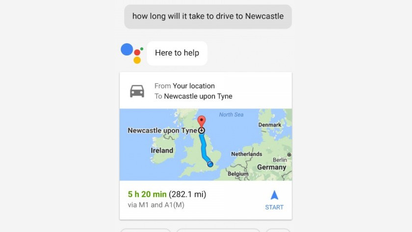 Google Assistant and traffic information