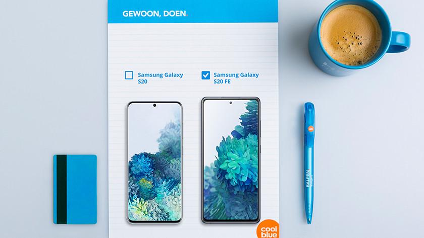 Samsung S20 vs S20 FE screen