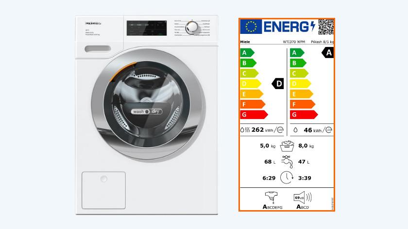 Energieverbruik was-droogcombinatie