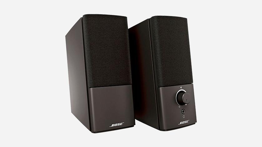 Geluid afspelen met een beamer via externe speakers