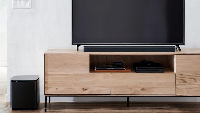 Bose speakers in living room