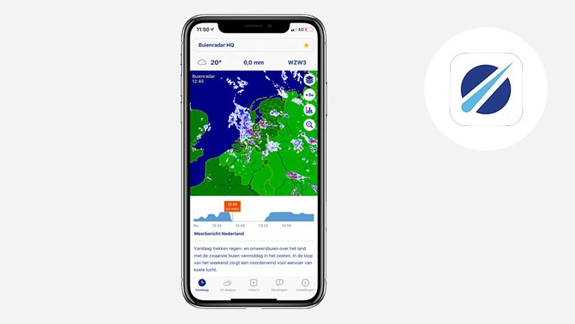 Apple iPhone iOS Buienradar app