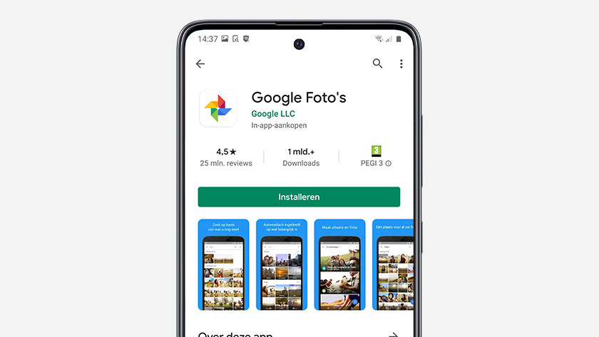 Google foto's back up