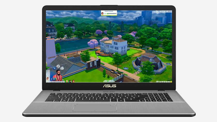 Asus laptop with The Sims 4.