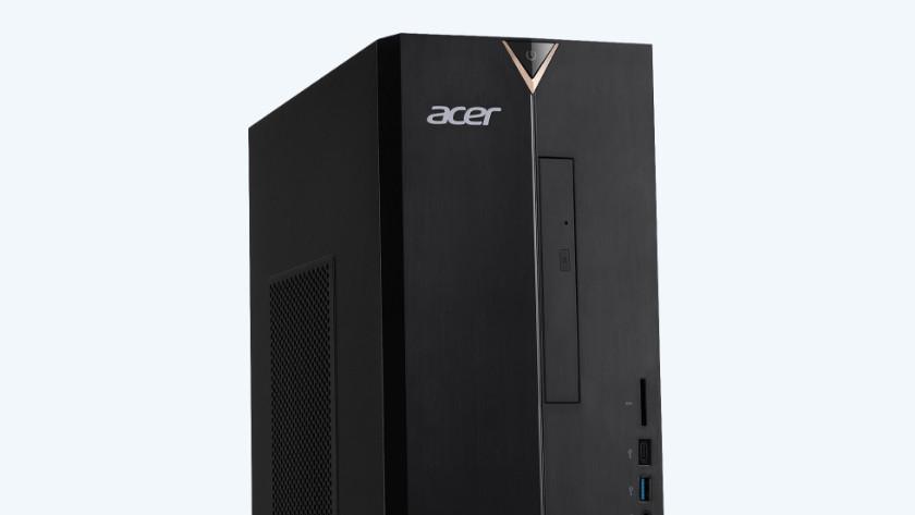 Acer desktop van de zijkant.