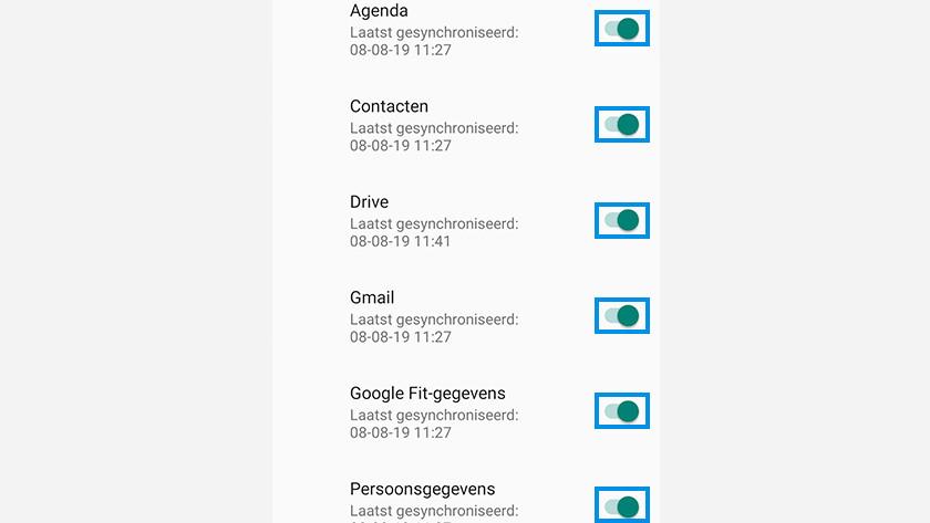 iOS Android gegevens synchroniseren
