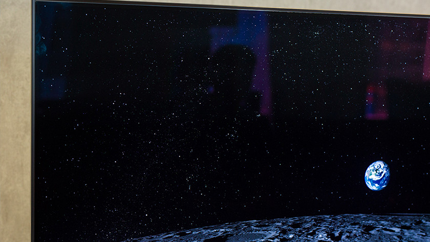 Samsung Q90R black display