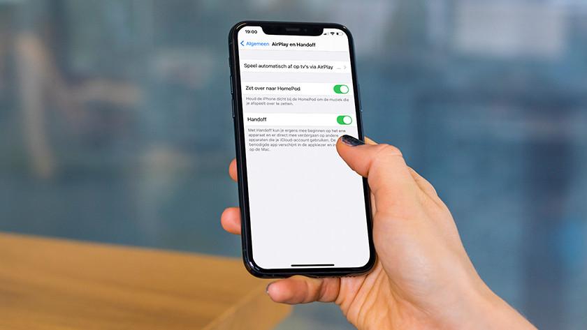 Handoff aanzetten iPhone