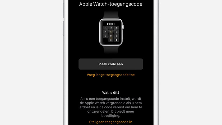 Apple Watch configureren