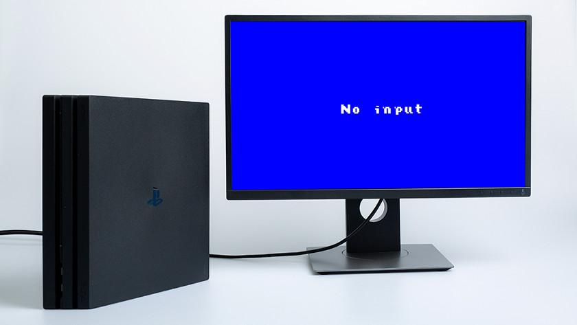 Monitor no input ander apparaat pc aansluiten