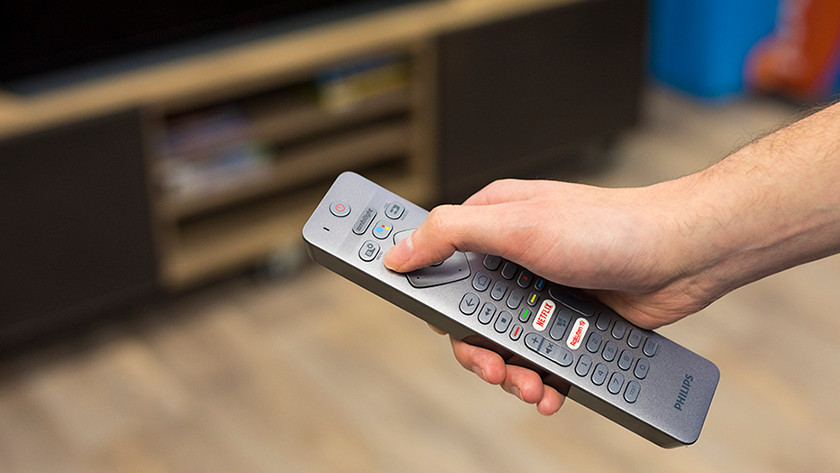 Press the menu button on your remote control