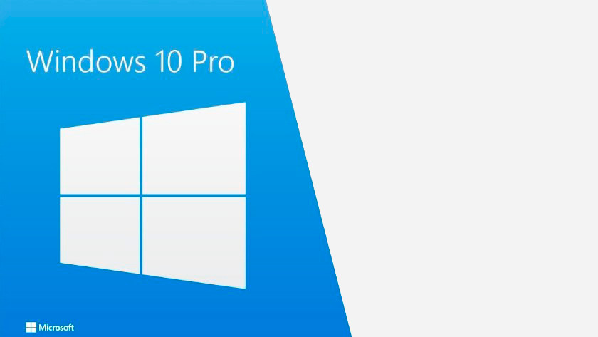 Windows 10 Pro logo.