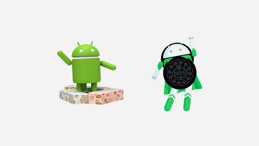 Different Android versions
