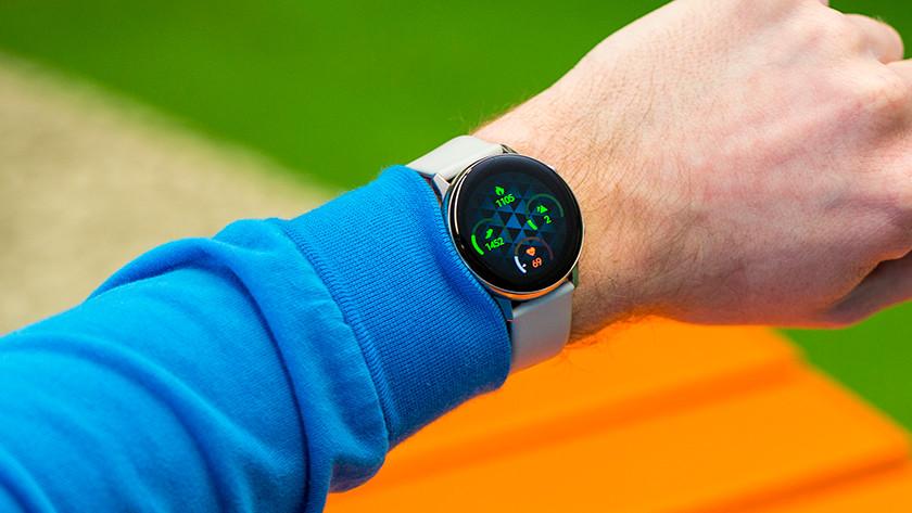 Samsung Galaxy Watch Active gezondheid hartslag stappen