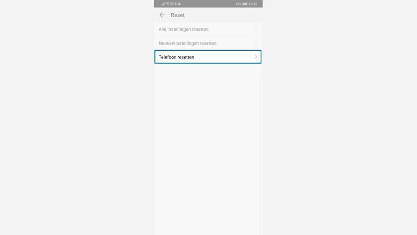 Resetting the Huawei phone