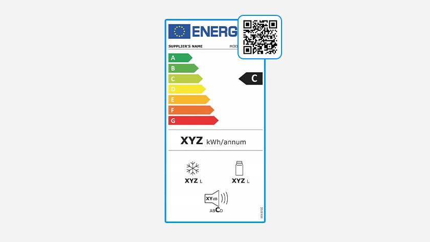 QR code op energielabel