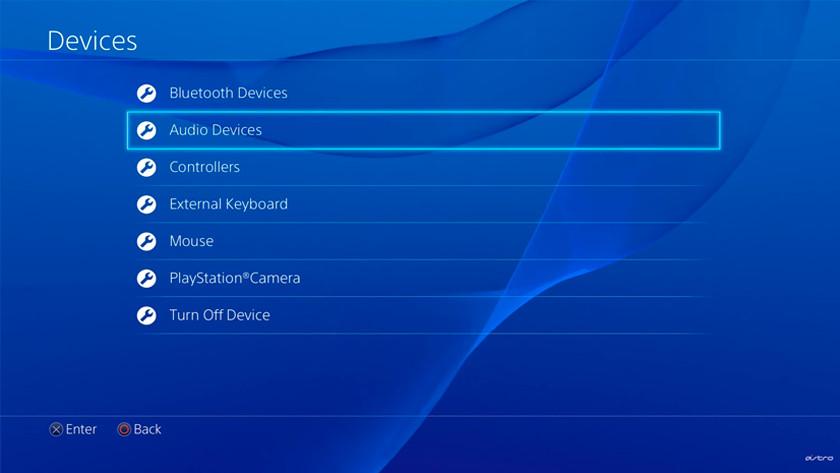 Audioapparaat instellen op PS4