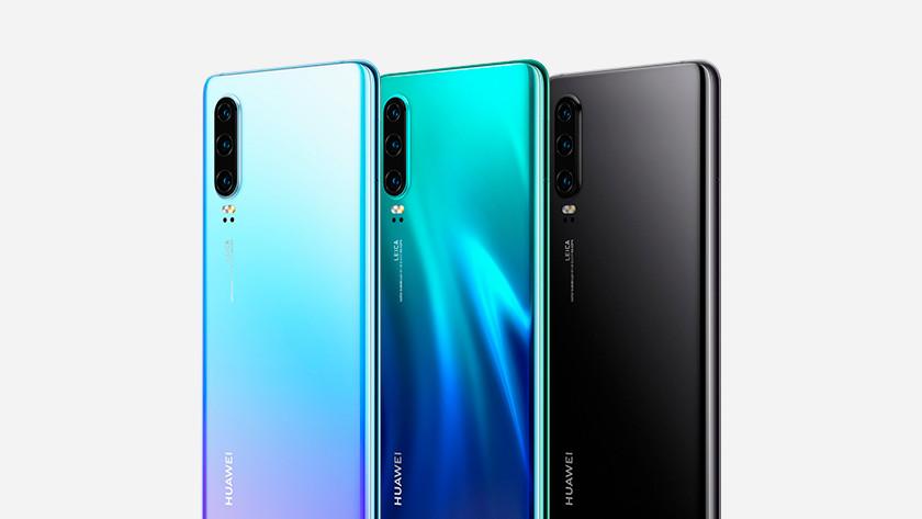 Huawei p30 achterkant kleur design