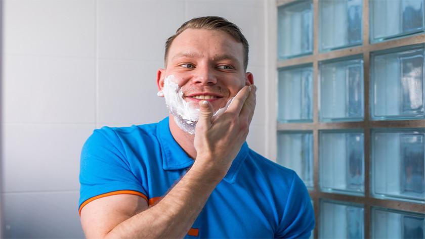 Was je gezicht voorafgaand aan het scheren