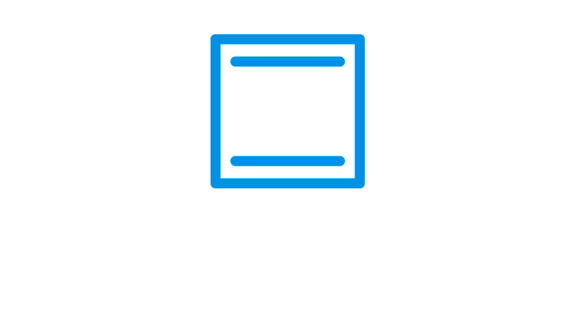 Symbool voor boven- en onderwarmte